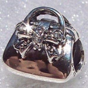 Pandora Sparkling Handbag Bracelet Charm 925 CZ